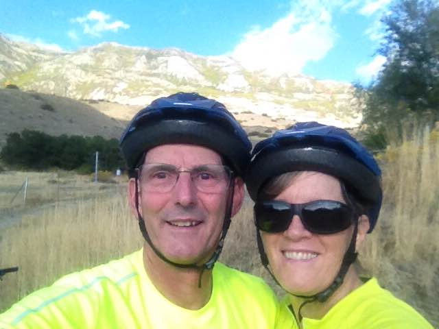 Don & Kathryn biking