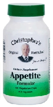 Appetite Formula, 100 capsules herbs for weight Loss,Dr Christophers Appetite Formula,weight loss herbs,herbs to supress appetite