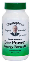 Bee Power Energy Formula, 100 capsules Dr Christophers Bee Power Energy formula,herbal energy product,herbs to help energ