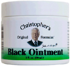 Black Ointment, 2 oz. Dr Christophers Black Drawing Ointment,Black Ointment,herbal ointment for skin cancer,ointment for moles