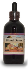Blood Detox Syrup, 4 oz.  Western Botanicals Blood Detox syrup,herbs to detoxify the blood,herbs to detoify the lymph system