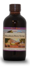 Hawthorn Berry Syrup, 8 oz.  Western Botanicals Hawthorn Berry Syrup,herbs for arrhythmia,herbs for congestive heart problems,herbs for angina