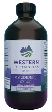 Immu-Defense Syrup, 16 oz. Western Botanicals Immu-Defense,anti-plague formula,herbs for colds,herbs for flu