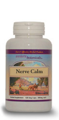 Nerve Calm, 120 capsules herbs for nerves,Western Botanicals Nerve Calm Formula,herbs to calm nerves,herbs for nerve problems