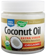 Organic Coconut Oil - 16 oz. Natures Way Organic Coconut Oil