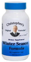 Winter Season Formula, 100 capsules Dr. Christophers Winter Season Formula,herbs to treat colds,herbs to boost immune system,immune system herbs,herbs for colds