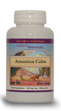 Attention Calm, 120 capsules Western Botanicals Attention Calm Formula,herbs for calming children