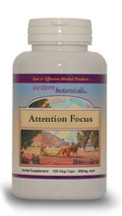Attention Focus, 120 capsules Western Botanicals Attention Focus Formula,herbs for focus,herbs for attention problems