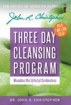 Dr. Christophers Three-Day Cleansing Program & Mucusless Diet Dr. Christophers Three-Day Cleansing Program & Mucusless Diet book,books by dr christopher