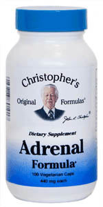 Adrenal Formula, capsules Dr Christophers Adrenal Formula,herbs for adrenals,natural adrenal support