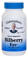 Bilberry Eye Support Formula, 100 capsules Dr Christophers herbs for eye problems,herbs for night blindness,Dr Christophers Bilberry Eye Support