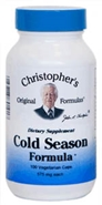 Cold Season Formula, 100 capsules Dr. Christophers Cold Season Formula,herbs to treat colds,herbs to boost immune system,immune system herbs,herbs for colds