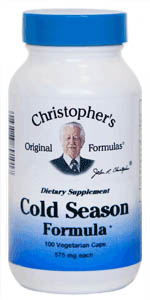 Cold Season Formula, capsules Dr. Christophers Cold Season Formula,herbs to treat colds,herbs to boost immune system