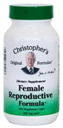 Female Reproductive Formula, 100 capsules Dr. Christophers Female Reproductive Formula,herbs to help reproductive health,herbs for hormone balance,herbs for cancer problems