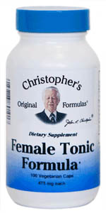 Female Tonic Formula, 100 capsules Dr Christophers Female Tonic Formula,herbs for women,herbs for reproductive system,herbs to aid reproduction,herbs for infertility