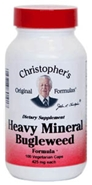 Heavy Mineral Bugleweed Formula, 100 capsules herbs to detox drugs,herbs to detox heavy metals,Dr Christopher formula,Dr Christophers Heavy Mineral Bugleweed Formula