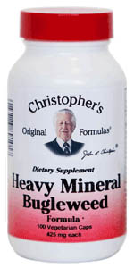 Heavy Mineral Bugleweed Formula, capsules herbs to detox drugs and metals,Dr Christopher formula,Dr Christophers Heavy Mineral Bugleweed Formula