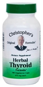 Herbal Thyroid Formula, 100 capsules Dr.= Christophers Herbal Thyroid formula,herbs for thyroid function