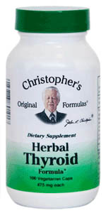 Herbal Thyroid Formula, capsules Dr Christophers Herbal Thyroid formula,herbs for thyroid function