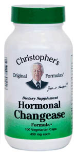 Hormonal Changease Formula, 100 capsules Dr Christophers Hormonal Changease,herbal remedies for menopause,herbal remedies for hot flashes