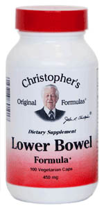 Lower Bowel Formula, 100 capsules Dr Christophers Lower Bowel Formula capsules,bowel cleanse,herbs for constipatio,herbs to correct bowel problems