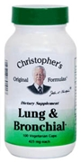 Lung & Bronchial Formula, 100 capsules Dr Christophers Lung and bronchial formula,herbs for COPD,herbs for asthma,herbs for lung problems,herbs for emphysema,herbs for TB