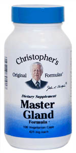 Master Gland Formula, 100 capsules Dr Christophers Master Gland Formula,herbs for pituitary gland,herbs for glands