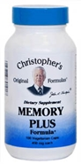 Memory Plus Formula, 100 capsules Dr Christophers Memory Plus,herbs to help memory,herbs to help brain function,herbs for brain,herbs for memory