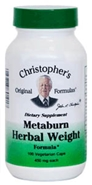 Metaburn Herbal Weight Formula, 100 capsules Dr Christophers Metaburn,herbs for weightloss,herbs to burn fat