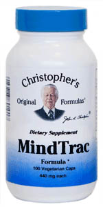 MindTrac, 100 capsules Dr Christophers MindTrac,herbal remedies for anxiety,herbal remedies for depression,herbs for anxiety,herbs for depression
