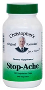 Stop-Ache, capsules Dr Christophers Stop-Ache,herbal pain relief,natural pain relief,herbs for pain relief