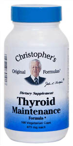 Thyroid Maintenance Formula, 100 capsules Dr Christophers Thyroid Maintenance Formula,herbs to help thyroid function,herbs for thyroid