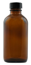 Amber Bottle, 16 oz. with cap  - 130-018-AP