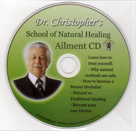 SNH Aliment CD Dr Christophers School of Natural Healing Aliment CD,School of Natural Healing CD,School of Natural Healing Ailments CD